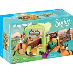 Playmobil® Konstruktions-Spielset Pferdebox Lucky & Spirit (9478), Spirit Riding Free