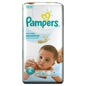 NEW Pampers New Baby Sensitive Essential Lot de 48 couches Taille 2