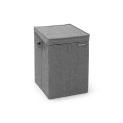 Brabantia Stapelbare Wäschebox, 35 Liter, Wäschesammler ideal zum Sortieren Ihrer Wäsche, Farbe: Pepper Black