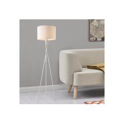 lux.pro Stehlampe, Grenoble Stehleuchte Design Dreifuß Lampe weiß