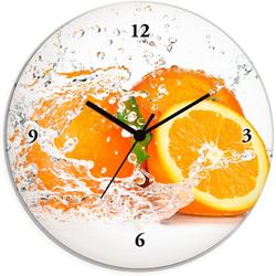Artland Wanduhr Orange mit Spritzwasser