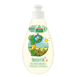Frosch Spülmittel Deko Sensitiv, Kraftvolles und fettlösendes Handspülmittel, 400 ml - Dekoflasche