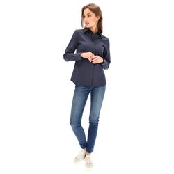 Lavard Marineblaue Damen-Hemdbluse 88085  36