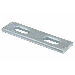 Platte verzinkt - 100 x 25 mm - mit 2 Langlöchern 10 x 25 mm - für Profil 27/18 und 28/30