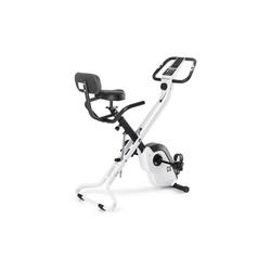 Capital Sports Fahrradtrainer Azura X1 X-Bike bis 120 kg Pulsmesser klappbar weiß weiß