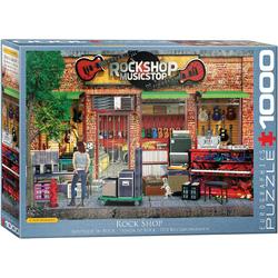 empireposter Puzzle Der Musikladen - Rockshop - 1000 Teile Puzzle im Format 68x48 cm, 1000 Puzzleteile