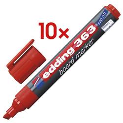 10x Whiteboard-Marker »363« rot, Edding