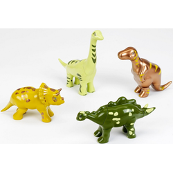 Klein Steckpuzzle Early Steps Magnetpuzzle 4 Dinos, 16 Puzzleteile
