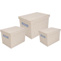 Franz Müller Flechtwaren Aufbewahrungsbox Kids (Set, 3 Stück) blau Boxen Truhen, Kisten Körbe Schlafzimmer Aufbewahrungsboxen