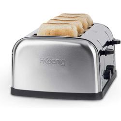 H.Koenig Toaster TOS14 für 4 Scheiben Toast, 1500 W