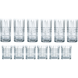 Nachtmann Gläser-Set Highland, (Set, 12 tlg.), Kristallglas mit markantem Schliff farblos Kristallgläser Gläser Glaswaren Haushaltswaren Trinkgefäße