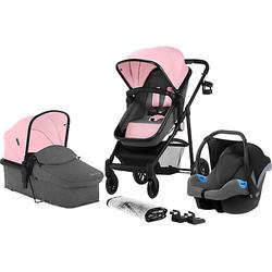 Kombi Kinderwagen JULI, 3 in 1, pink
