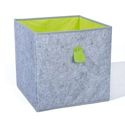 ebuy24 Aufbewahrungsbox Winna Aufbewahrungsbox grau, apfelgrün.
