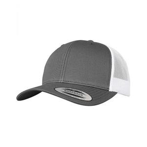 Retro Trucker 2-Tone Cap / Kappe / Mtze / Hut - FLEXFIT Dark Grey/White One Size
