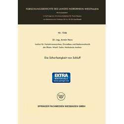Die Scherfestigkeit von Schluff als Buch von Armin Horn