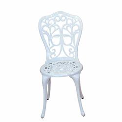 Vintage Metallstuhl in Weiß Aluminium (2er Set)