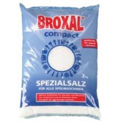 Broxal Regeneriersalz, grob, Spezialsalz für Spülmaschinen, 1 Karton = 6 x 2 kg - Beutel