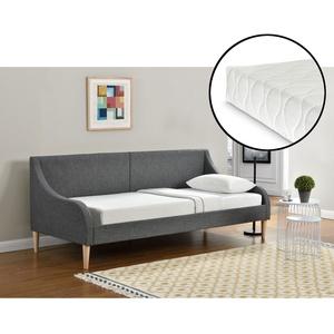 [en.casa]® Tagesbett Mit Matratze 90 X 200 Cm Schlafsofa Bett Textil Bettgestell