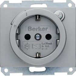 Berker SCHUKO-Steckdose mit FI-Sc hutzschalter K.5 ede 47087004