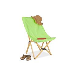 relaxdays Klappstuhl Holz Liegestuhl klappbar grün grün