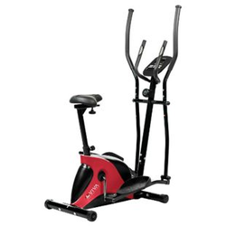 AsVIVA Crosstrainer & Heimtrainer C16 Bluetooth 2 in 1 Cardio white red