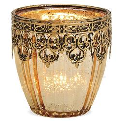matches21 HOME & HOBBY Kerzenständer Teelichtglas Orientalisch Marokko