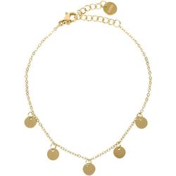 styleBREAKER Armkette Edelstahl Armkette mit Münz Anhängern, Edelstahl Armkette mit Münz Anhängern goldfarben