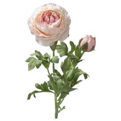 Kunstblume Ranunkeln Blüten & Knospen 1 Stk ca 40 cm rosa Ranunkeln, matches21 HOME & HOBBY, Höhe 40 cm, Indoor rosa