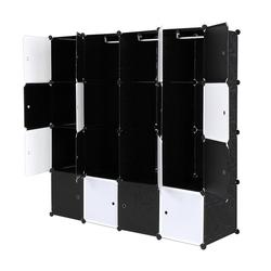 FCH Kleiderschrank Kleiderschrank Garderobenschrank Kunststoff Steckregal DIY Modular Schrank Regalsystem