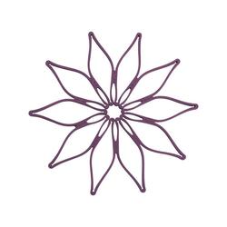 Kochblume Topfuntersetzer Vario, Hitzebeständig bis 230° lila