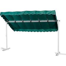 Grasekamp Standmarkise Dubai Grün 375 x 225 cm  Terrassenüberdachung Raffmarkise Mobile  Markise