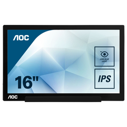 AOC I1601FWUX - 40 cm (15.6 Zoll), tragbarer LED-Monitor mit IPS-Panel, Full HD, USB Type-C