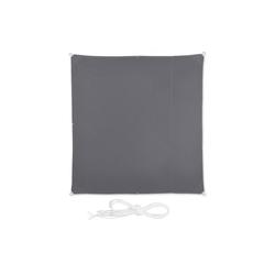 relaxdays Sonnensegel Sonnensegel Quadrat in Grau 200 cm x 0.5 cm x 200 cm