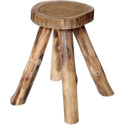 Brillibrum Hocker Sitzhocker Beistelltisch Teakholz Holz massiv Couchtisch Nachttisch Wurzelholz Tisch