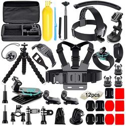 Vaxiuja Kamerazubehör-Set Zubehör für Gopro, Soft digits Aktualisierung 50-in-1 Action Kamera Zubehör Kit für Gopro Hero 9 Hero 8 Hero 7 Hero 6 5 und die meisten Sportkameras