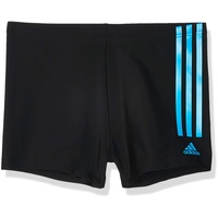 adidas Herren Fitness Semi 3-Streifen Boxer-Badehose, black/shock cyan 8