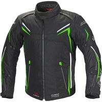 Büse Mugello Motorrad Textiljacke, schwarz-grün, Größe L