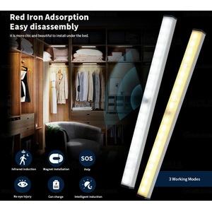 4X LED Unterbau-Leuchte Lampe Küche Batterie Sensor Licht-Leiste Schrankleuchte