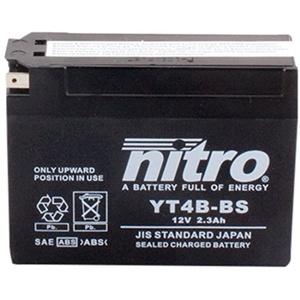 NITRO YT4B-BS -N- Batteries, Schwarz (Preis inkl. EUR 7,50 Pfand)