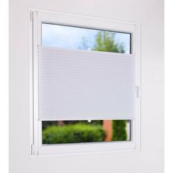 Sonnenschutz Plissee zum Klemmen weiß - Sichtschutz und Sonnenschutz für Fenster