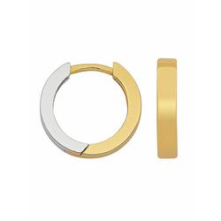 Adelia´s Paar Creolen 925 Silber Ohrringe / Creolen Ø 11,6 mm, Silberschmuck für Damen