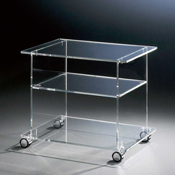 TV Wagen aus Acrylglas 60 cm