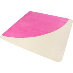 Teppich Corro, Esprit, quadratisch, Höhe 9 mm rosa 100 cm x 100 cm x 9 mm