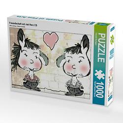 Freundschaft mit viel Herz CB Lege-Größe 64 x 48 cm Foto-Puzzle Bild von Digital-Art Puzzle