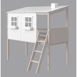 Flexa Classic halbhohes Bett mit Haus 90-10770