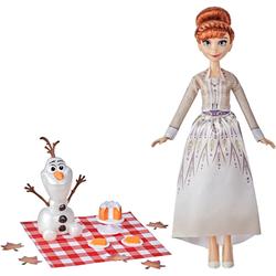 Hasbro Anziehpuppe Disney Die Eiskönigin 2 Annas und Olafs Herbstpicknick, mit Puppe Olaf