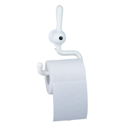 KOZIOL Toilettenpapierhalter Toq Solid Weiß, mit Saugnapf