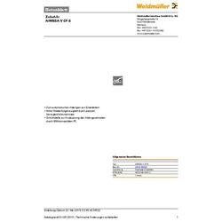 Weidmüller AIMESA V CF 8 9054740000 Abisoliermesser-Ersatzmesser