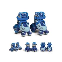 Byox Rollschuhe Rollschuhe Beetle Größe XS 26-29, PU-Rollen, ABEC-5 Lager, Stopper hinten blau