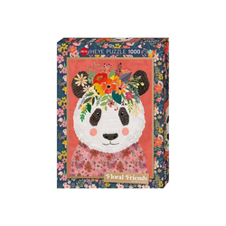 Huch! Puzzle Puzzle Cuddly Panda, Floral Friends by Mia Charro,, Puzzleteile